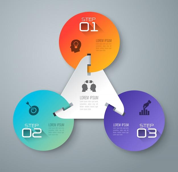 Elementy infographic biznesu Premium Wektorów