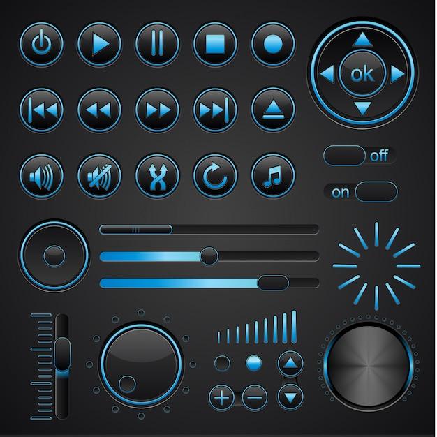 Elementy Muzyczne Wektorowe Premium Wektorów