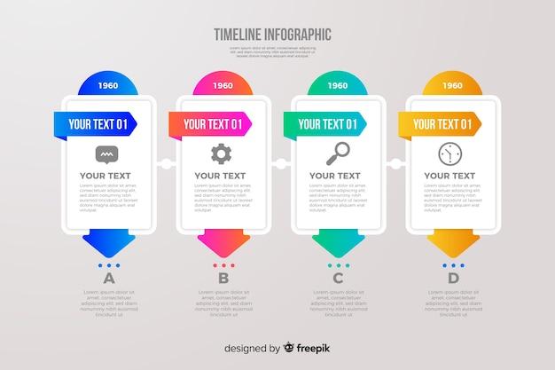 Elementy plansza kolorowe osi czasu Darmowych Wektorów