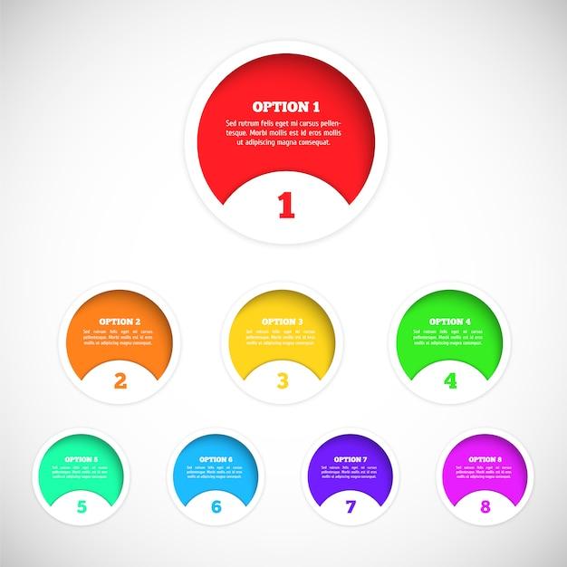 Elementy projektu do infografiki Premium Wektorów