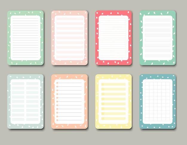 Elementy Projektu Do Notebooka, Pamiętnika, Naklejek I Innych Szablonów Premium Wektorów