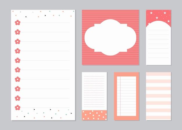 Elementy Projektu Do Notebooka Premium Wektorów