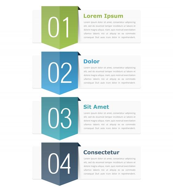 Elementy projektu infografiki z miejscem na liczby (kroki lub opcje) i tekst Premium Wektorów