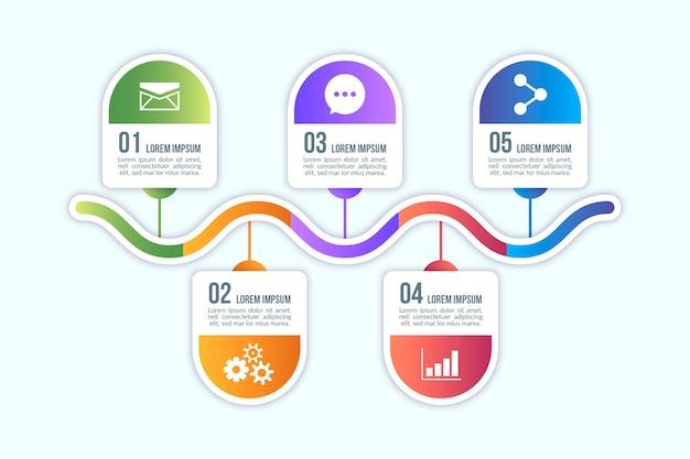 Elementy Projektu Infographic Gradientu Darmowych Wektorów