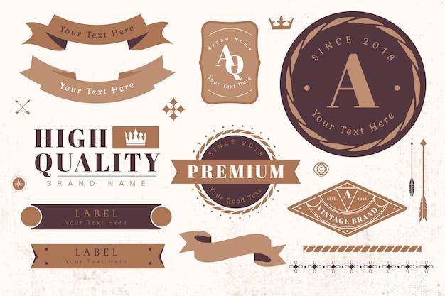 Elementy projektu logo i baner Darmowych Wektorów