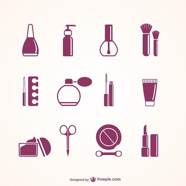 Elementy salon kosmetyczny Darmowych Wektorów