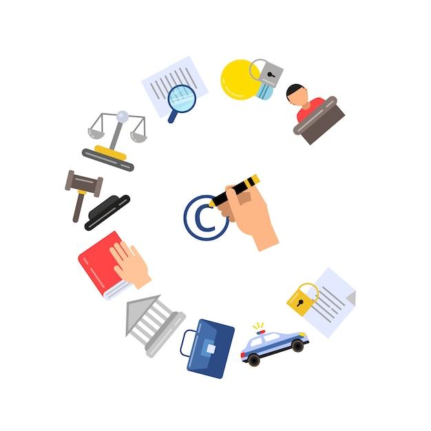 Elementy stylu autorskiego koloru liniowego i zestaw ikon Premium Wektorów