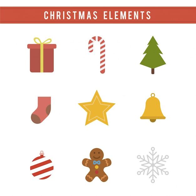 Elementy świąteczne Darmowych Wektorów