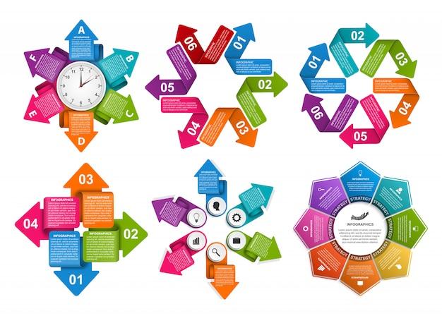 Elementy Ustawione Na Infografikę Premium Wektorów