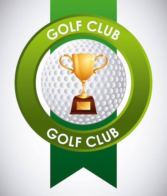 Emblemat klubu golfowego Premium Wektorów
