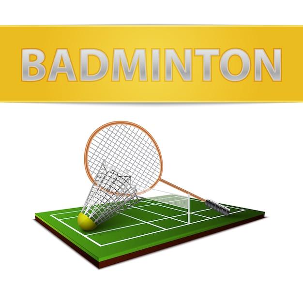 Emblemat Lotki Do Badmintona I Rakiety Darmowych Wektorów