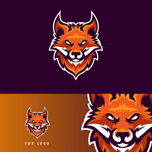Emblemat maskotki fox esport Premium Wektorów