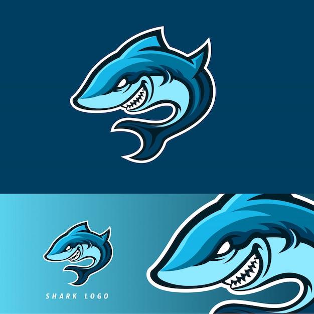 Emblemat Z Maskotką Shark Esport Premium Wektorów