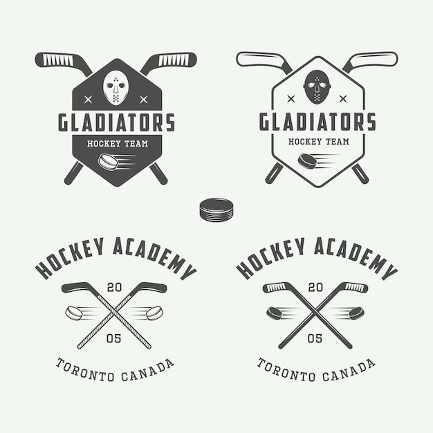 Emblematy Hokejowe, Logo Premium Wektorów
