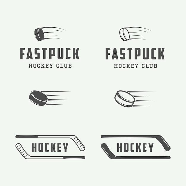 Emblematy Hokejowe Premium Wektorów