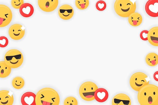 Emoji oprawione tło Darmowych Wektorów