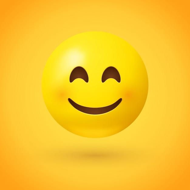 Emoji Uśmiechnięta Twarz Premium Wektorów