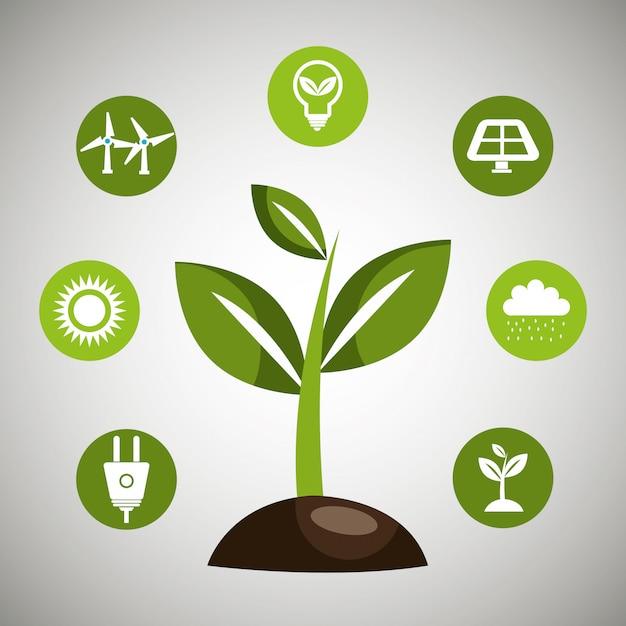 Energia odnawialna Darmowych Wektorów
