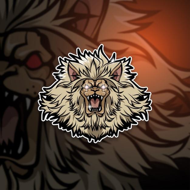 Esports Mascot Logo Team Lion Squad Premium Wektorów