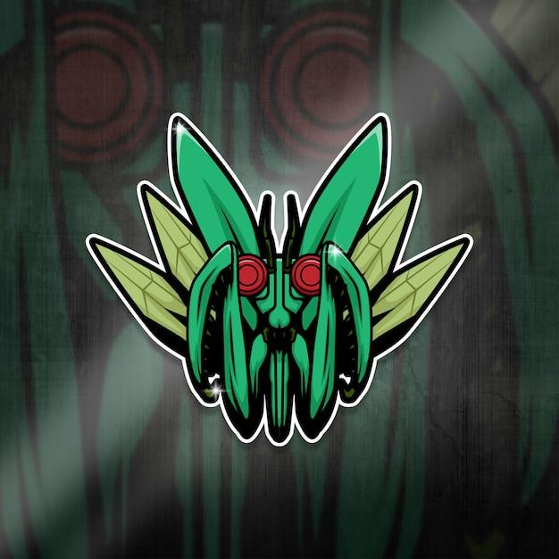 Esports Mascot Logo Team Mantis Squad Premium Wektorów