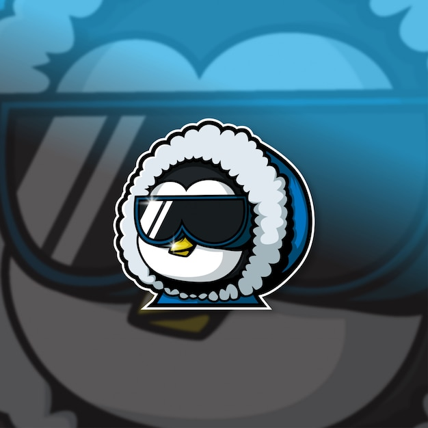 Esports Mascot Logo Team Penguin Squad Premium Wektorów