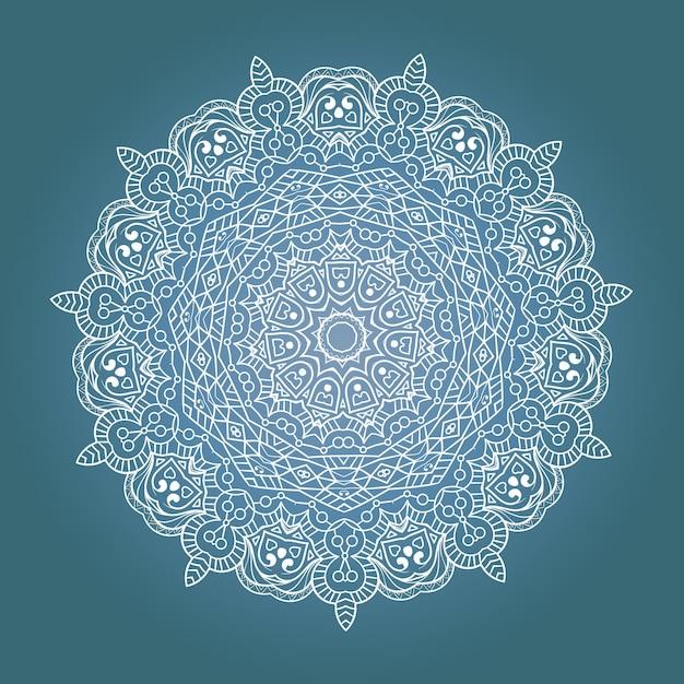 Etniczna Fraktalna Mandala Medytacyjna Premium Wektorów