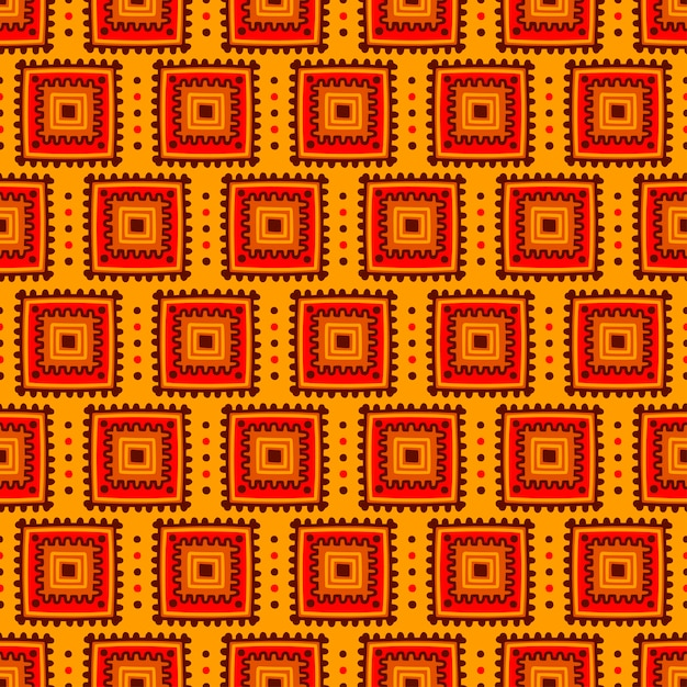 Etniczny Bezszwowy Wzór. Plemienny Druk W Stylu Afrykańskim, Meksykańskim, Indyjskim Premium Wektorów
