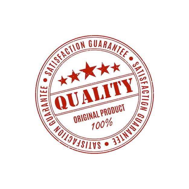 Etykieta Gwarancji Jakości Produktu Premium Wektorów