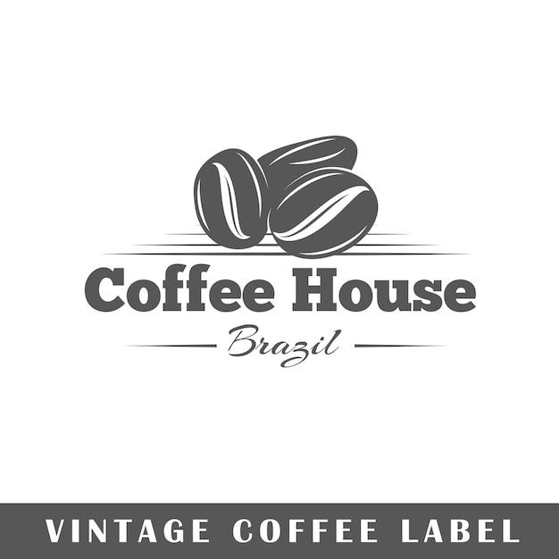 Etykieta Kawy Na Białym Tle. Element. Szablon Logo, Oznakowania, Marki. Premium Wektorów