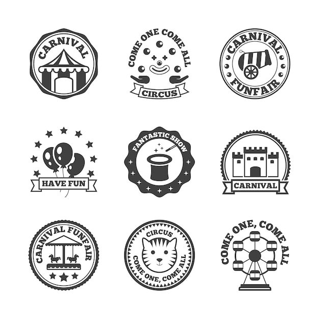 Etykieta parku rozrywki Darmowych Wektorów