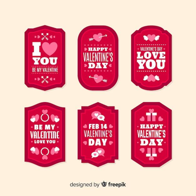 Etykieta valentine z pakietem wiadomości Darmowych Wektorów