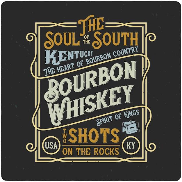 Etykieta Vintage Whisky Premium Wektorów