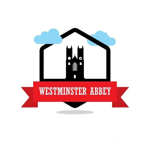 Etykieta westminster abbey ribbon Darmowych Wektorów