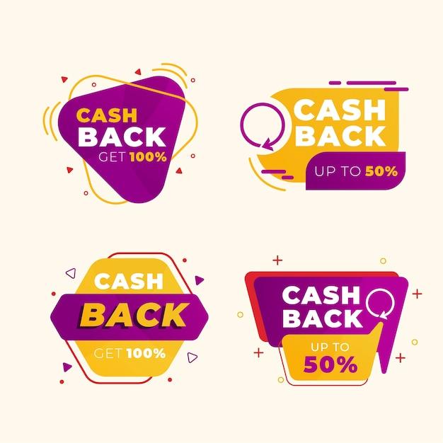 Etykiety Cashback Z Rabatami Darmowych Wektorów