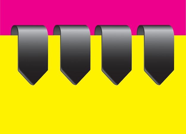 Etykiety chrome Premium Wektorów
