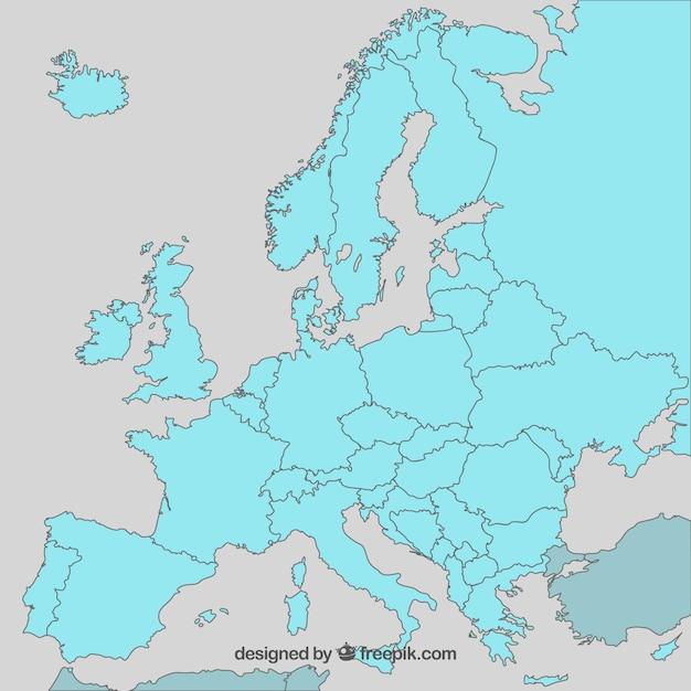 Europa Mapa Wektorowa Darmowy Wektor
