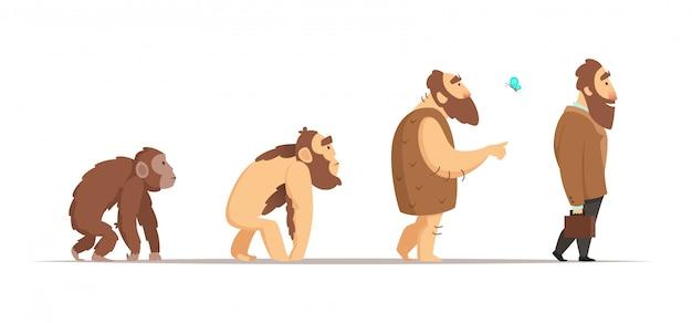 Ewolucja Biologii Homo Sapiens. Premium Wektorów