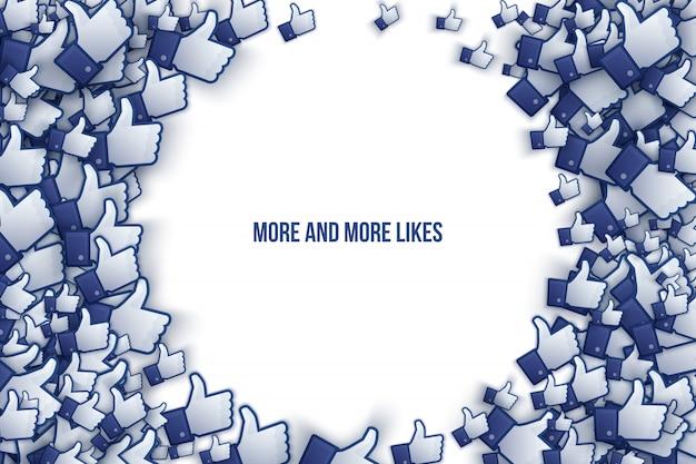 Facebook 3d Jak Ikony Dłoni Ilustracja Wektorowa Sztuki Premium Wektorów
