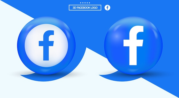 Facebook Logo In Circle Nowoczesny Logotyp Mediów Społecznościowych Premium Wektorów