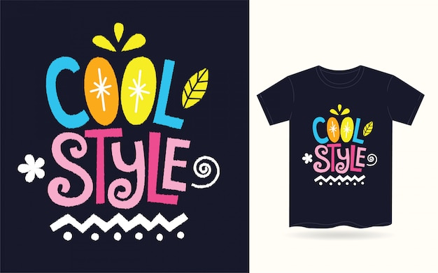 Fajna typografia dla koszulki Premium Wektorów