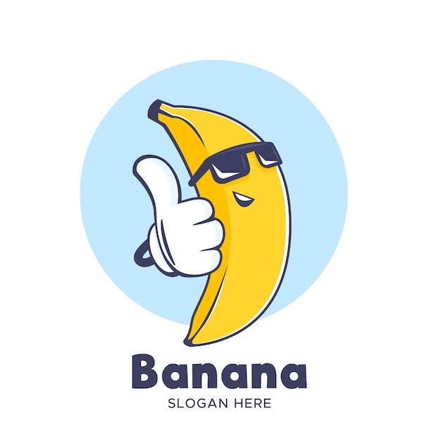 Fajny Banan W Logo Okularów Przeciwsłonecznych Darmowych Wektorów