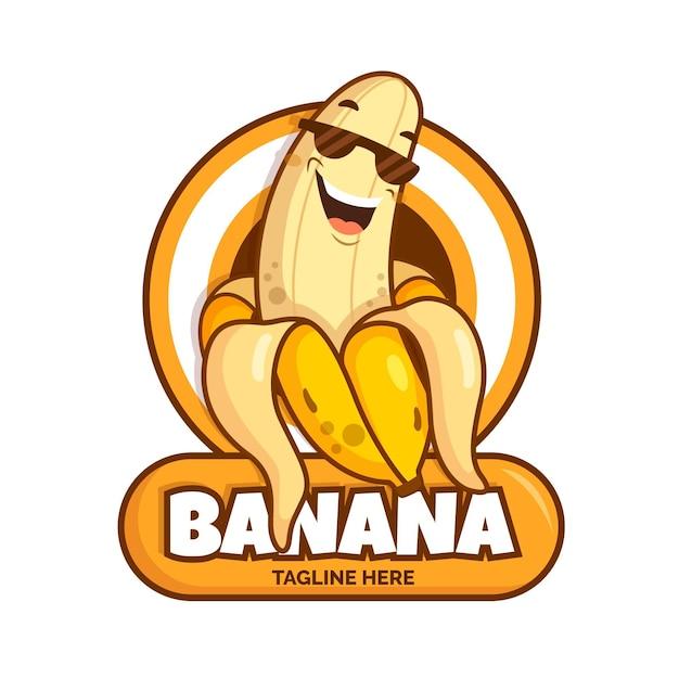 Fajny Szablon Logo Postaci Banana Darmowych Wektorów