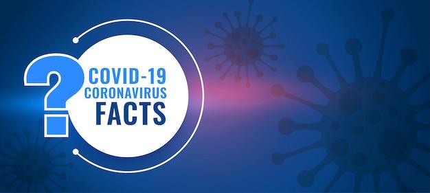 Fakty Koronawirusa Covid19 Oraz Tło Pytań I Odpowiedzi Darmowych Wektorów