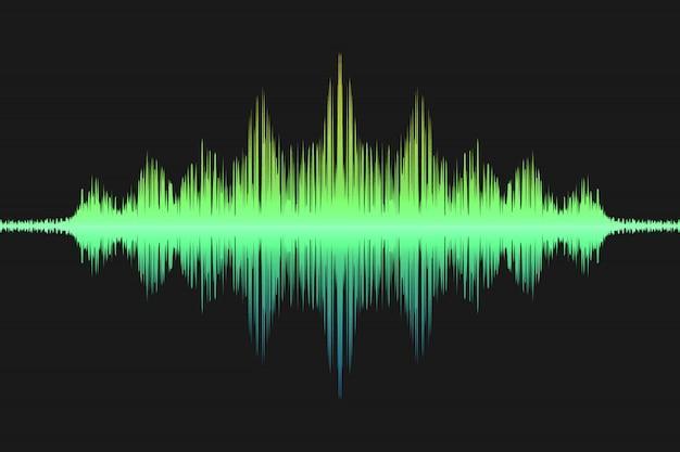 Fala Dźwiękowa, Fala Dźwiękowa Premium Wektorów