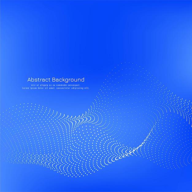 Fala kropkowana nowoczesny kolor niebieski tło Darmowych Wektorów