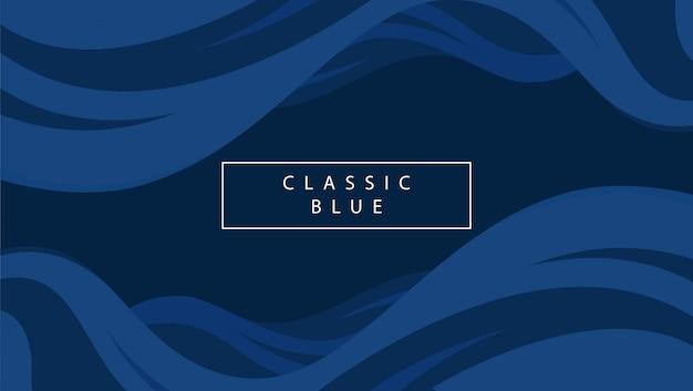 Fala Streszczenie Niebieskim Tle Premium Wektorów