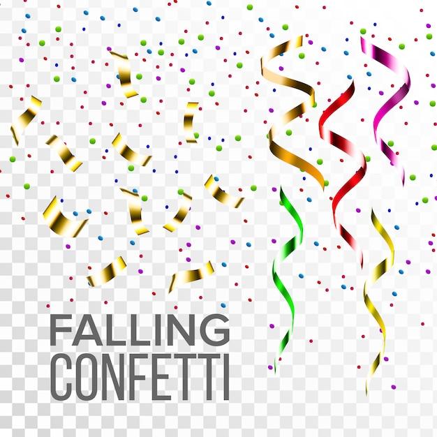 Falling Confetti Set Premium Wektorów