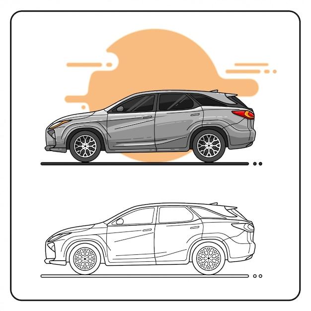 Fan Car Easy Editable Premium Wektorów