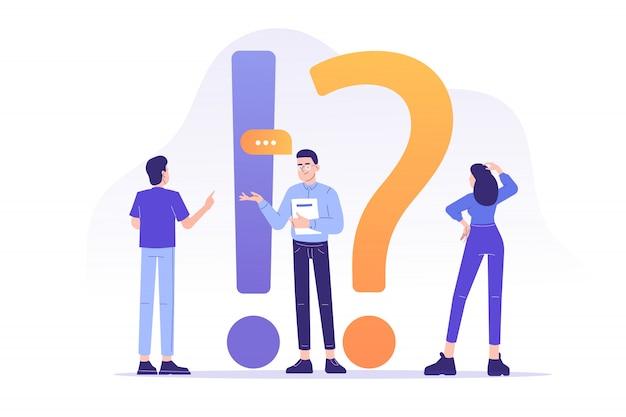 Faq Lub Często Zadawane Pytania Premium Wektorów