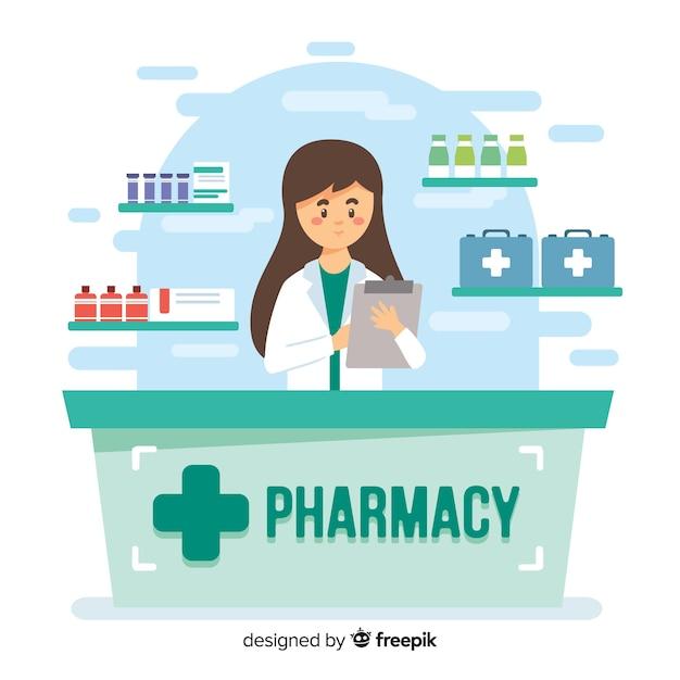 Farmaceuta Darmowych Wektorów